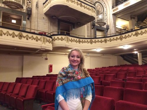 At the Studebaker Theater, Chicago
