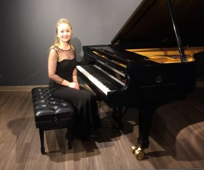 After a recital at Steinway Gallery